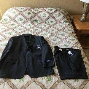 NEW Mens 48R Stafford 2 Piece 42X30 100% Wool Suit